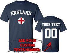 ENGLAND World Cup Unisex TSHIRT Jersey Custom Text Number England Flag Tee Shirt