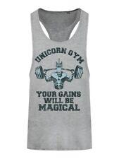 Unicorn Gym Extreme Men's Heather Grey Racer Back Vest
