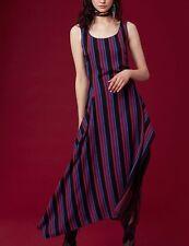 Nuovo Diane Von Furstenberg Dvf Girocollo Vestito Attillato Nero Blu Rosso 6