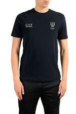 "Emporio Armani EA7 ""Italia Team"" Men's Blue Crewneck T-Shirt Size XS S M XL 2XL"