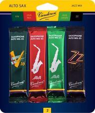 Vandoren SRMIXA2 Alto Sax Jazz Reed Mix Card includes 1 each ZZ, V16, JAVA...