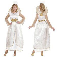 Engel Damen Kostüm goldenens Engelskostüm - Kleid mit Flügel + Heiligenschein