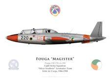 "Print Fouga Magister, Patrouille ""Silver Swallows"", Irish Air Corps (G. Marie)"