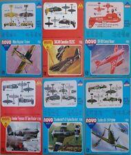 1:72 NOVO card ONLY! D 520C, DH-88 Comet, Typhoon, P-47, Spitfire I/V NOT model!
