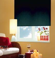 Seitenzugrollo Kettenzugrollo Tür Fenster Rollo Schwarz Black Breite 60-220 cm