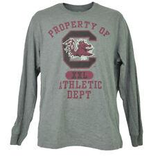 NCAA South Carolina Gamecock Long Sleeve Tshirt Tee Mens Adult Crew Neck Gray
