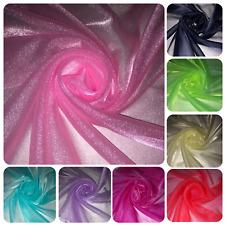Cornflower Blue Sheer Organza Fabric per Metre Wedding Voile Material OV14