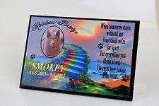 Personalised Pet Photo Poem memorial plaque sign dog, cat, animal
