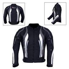 New Men's Motorcycle Motorbike Jacket Waterproof Textile With CE Armoured Grey