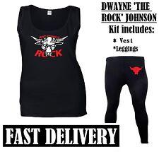 DWAYNE THE ROCK JOHNSON FANCY DRESS 90S RETRO SPORTS WRESTLER LEGEND KIT