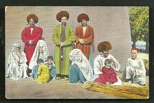 Turkmenistan Men Women Children Family Costume Field post 1917