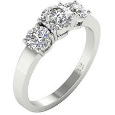 I1 H 1.80 Ct Round Diamond Three Stone Engagement Ring 14K Solid Gold Appraisal