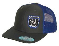 Custom Mx Nummernschild Hut nur Reite Snapback Netz Kappe Moto Motocross YZ Blau