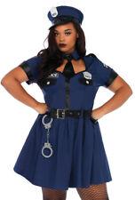 Plus size blue Leg Avenue police cop dress costume