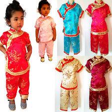Kinder Mädchen/Jungen Geisha China/Japan Shaolin Anzug Kostüme Gr.80-158