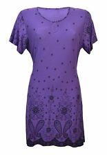 New Women Ladies Border Print Scoop Neck Tie Back Smock Top Plus Size 14-28