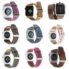 Apple Watch Echtleder Armbander, iWatch 5-4-3-2-1Ersatzarmband 38-40mm 42-44mm