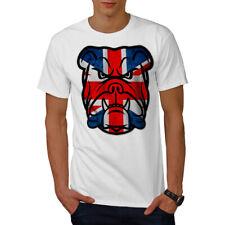 Brittish Bull Dog Flag UK Men T-shirt NEW | Wellcoda