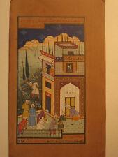 01 An old look Persian Primitive Artwork Miniature Paper Painting Turkish Arabic