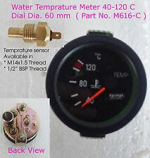 60MM CAR UNIVERSAL BLACK Dial Water Meter Temperature Pointer 40-120? (M616-C)