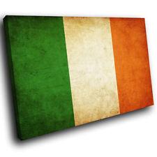 ZAB139 Irish Flag Tricolour Modern Canvas Abstract Home Wall Art Picture Prints