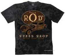 T shirt Batik Black v8 old school hot rod us Car &' 50 style Motif Modèle ratty rods
