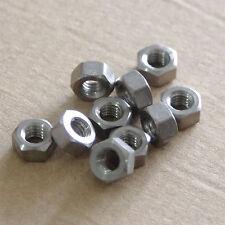 2/5/10/50pcs Titanium Ti GR5/TA2 M3/M4/M5/M6/M8 Hex Nut