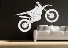 obstáculos MOTO de motocross adhesivo pared dormitorio Estarcido Arte mural