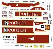 #17 Fortuna GUFFANTI Porsche 1/32nd Scale Slot Car Decals