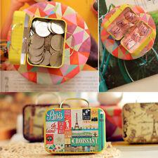 Various Small Tin Storage Gift Case Metal Jars Box Vintage Icon Rectangular