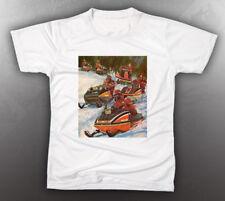 VINTAGE MOTO-SKI 1975 BROCHURE TEE-SHIRT LIKE NOS