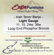 Eagle-Puretone Irish Tenor Banjo String Set Light Gauge 11, 15, 24w, 36w