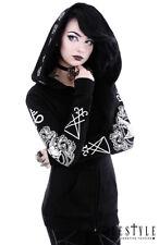 Restyle Ritual Emo Punk Ram Pentagrams Gothic Oversized Hood Adult Womens Hoodie