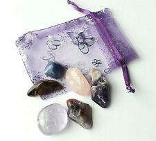 Tumble Stones Healing Crystals Reiki Chakra Gemstones Amethyst, Super 7,10-40 mm