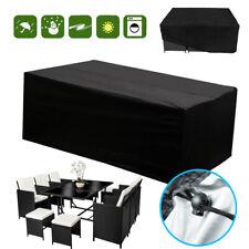 Waterproof Garden Rattan Sofa Furniture Set Rain Cover for 2-10 Seater Outdoors