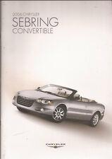 2006 06 Chrysler Sebring Convertible   brochure MINT