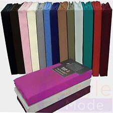 Mattress Fitted Sheet Percale Cover Valance & Flat Mattress Bedsheet All Sizes