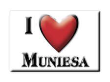SOUVENIR ESPAÑA ARAGÓN TERUEL IMAN FRIDGE MAGNET CORAZON I LOVE  MUNIESA (TE)--