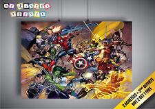 Poster MARVEL Civil War Art