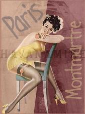 PARIS FRANCE Travel Art Photo Print Pinup Poster MONTMARTE Pin Up Girl