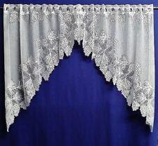 White Pinecones Lace Window Swag or Tier Kitchen Livingroom Bedroom Den