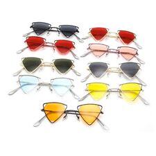 Womens Triangle Stylish Designer Sunglasses Decoration Shades Metal Glasses