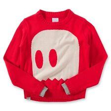 NEU BENCH NOGHOSTS Pullover Geist Gespenst rot beige 100% Cotton GR 7 8 122 128