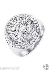Celesta-Damen-Ring-Ring Zirkonia(  ca, 2,1 Ct )Rhodiniert Zirkonia weiß NEU OVP