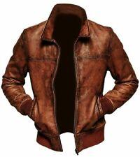 Café Racer  Genuine Leather Distress Brown Biker Jacket