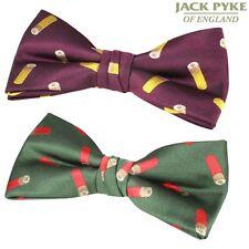 JACK PYKE CARTRIDGE BOW TIE MENS SUIT DICKIE TIE GIFT HUNTING CLAY PIGEON RIFLE