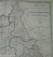 STATI SARDI_PIEMONTE_LIGURIA_TORINO_GENOVA_AOSTA_NIZZA_FERROVIE_CARTOGRAFIA_1856