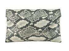 Stylish Large Envelope Faux Snakeskin Clutch Bag/Shoulder Bag Wedding Party Prom