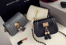 High Quality Faux Leather Small Handbag with Tassels Fashion Designer  - K85