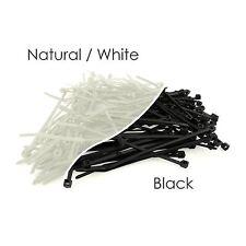 Black & White Nylon Plastic Cable Ties Zip Tie Wraps 100mm 200mm 300mm